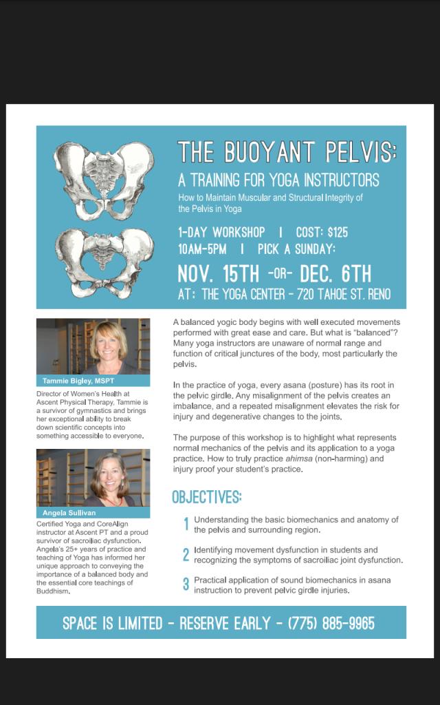 The Bouyant Pelvis
