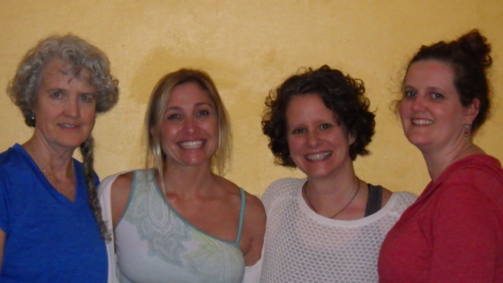 Tired but happy at the end of Day 2, Kathy, Jessica, Kami and Cheryl after the group class hosted by Rosemary Court Yoga in Sarasota and organized by Scleroderma Foundation Support Group Leader Cindy Grantham-Spears.