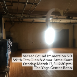 Sacred Sound Immersion 5.0 with Tim Glen and Amar Atma Kaur